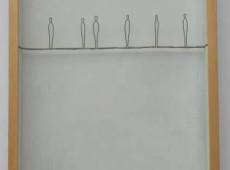 Funanboli_Tentativo n°4 Materiale ferro, spago, acrilico. Cm 30x48,5x5