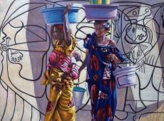 Omaggio a Picasso Olio su tela Cm. 54x70