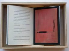 Paragrafi – Libro d'arte Legno, ferro, acrilico, ombra cm 36x25x8