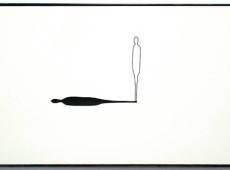 Sguardi d'ombra_tentativo n°13 Materiale Legno, acrilico, ombra. Cm 30x48,5x3