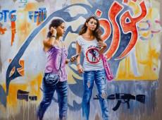 this is not graffiti olio su tela cm. 200 x 260